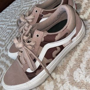 camo vans only worn once PRO